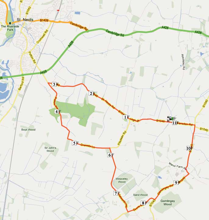Time trial route